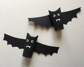 Image de Chauve-souris d'Halloween en rouleau de papier toilette [VIDÉO]