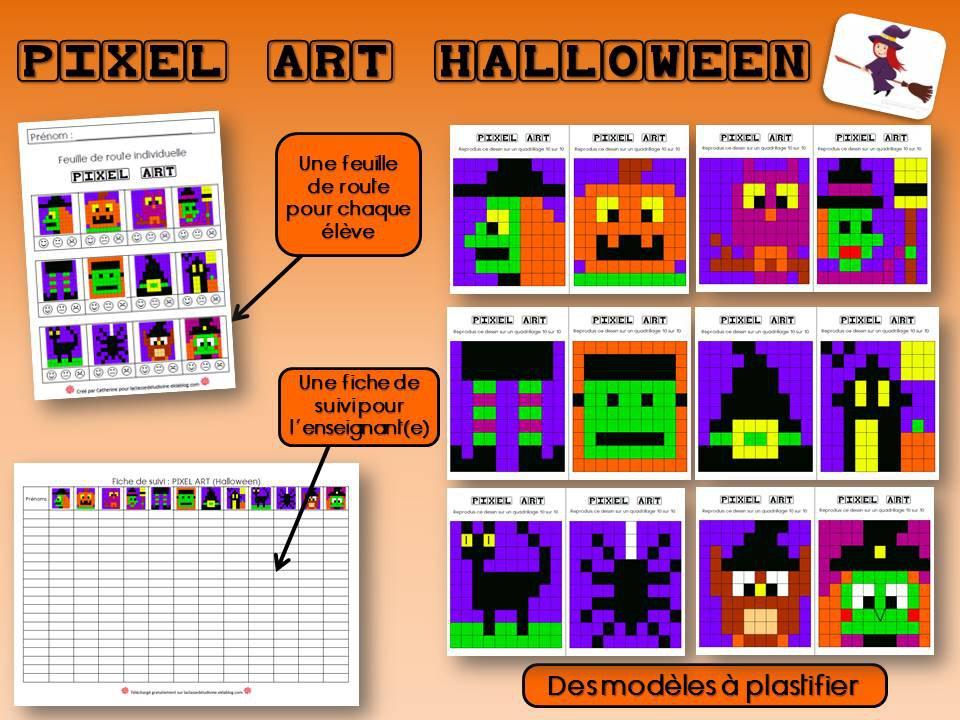 Pixel Art Halloween Par Laclassedeludivine Eklablog Com Jenseigne Fr