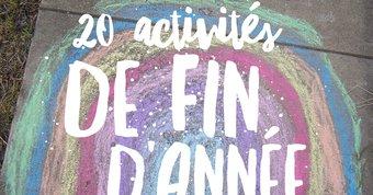 Image de 20 activités de fin d'année avec vos élèves