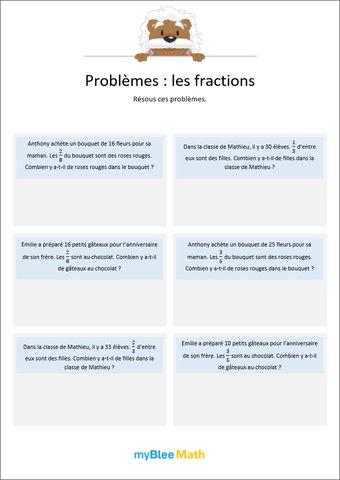 Image de Les fractions 2 - Multiplications de fractions avec un entier -6e