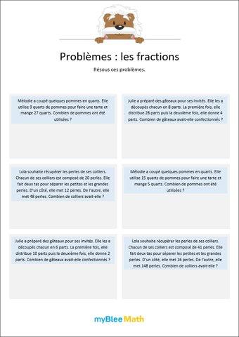 Image de Les fractions 6 - Résolution de problèmes grâce aux fractions