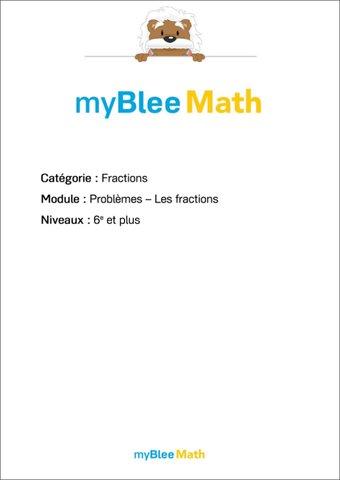 Image de Fractions - Problèmes - Les fractions -6e et plus