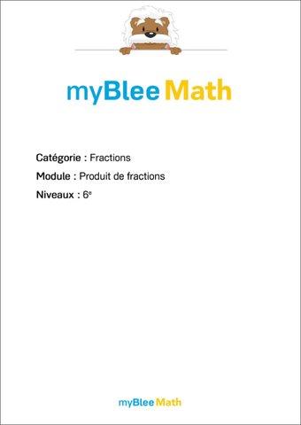Image de Fractions - Produit de fractions -6e