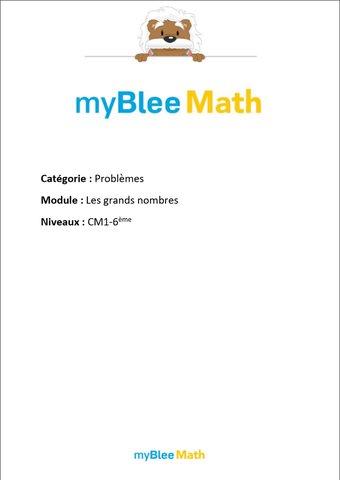 Image de Problèmes - Les grands nombres -CM1-6e