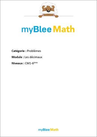 Image de Problèmes - Les décimaux -CM1-6e
