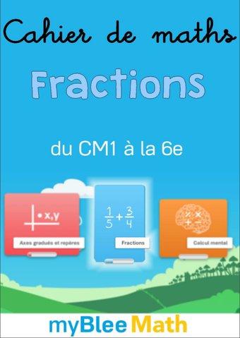Image de Cahier de maths - Fractions - Complet -CE2-6e