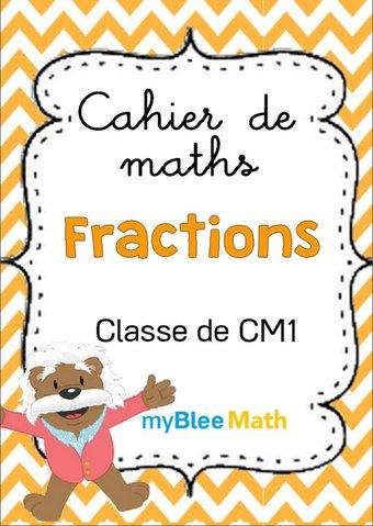 Image de Cahier de maths - Fractions - Classe de CM1