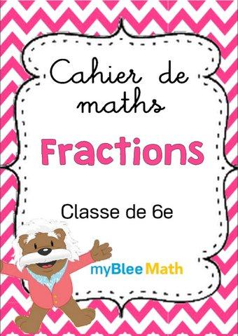Image de Cahier de maths - Fractions - Classe de 6e
