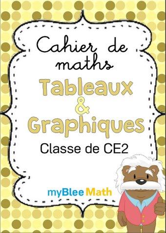 Image de Cahier de maths - Tableaux et graphiques -CE2