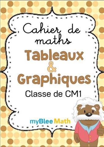 Image de Cahier de maths - Tableaux et graphiques -CM1