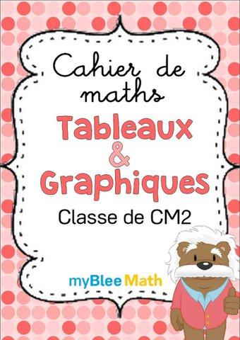 Image de Cahier de maths - Tableaux et graphiques -CM2