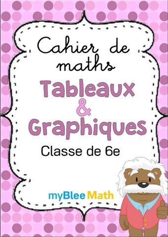 Image de Cahier de maths - Tableaux et graphiques -6e