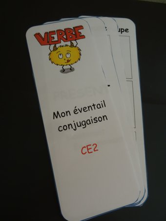 Image de éventail mémo conjugaison CE2