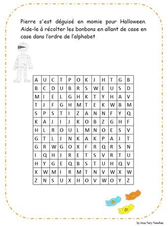 Image de Labyrinthes Alphabet Halloween