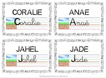 Image de étiquettes modèle pour table CP