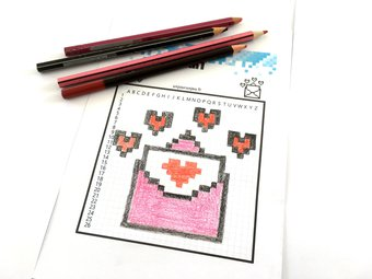 Image de ❤???L'amour en pixel art pour la Saint Valentin ???❤