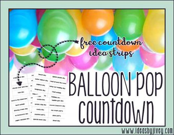 Image de Balloon Pop Countdown {FREEBIE}