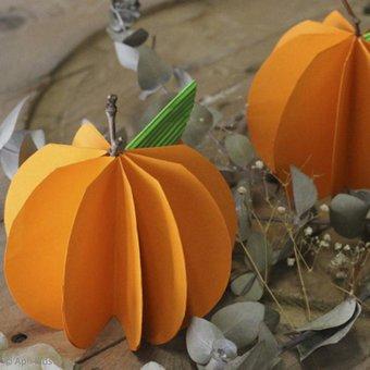 Image de Décoration citrouille en papier - Idées conseils et tuto Halloween