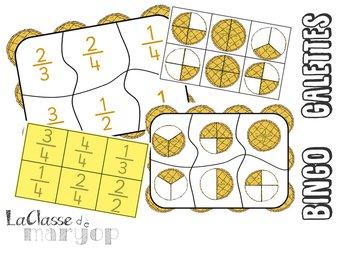 Image de Bingo Galettes - Jeu sur les fractions