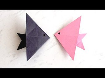 Image de How to Make Paper Fish | Creating Paper Fish, Paper Art and Craft for Kids