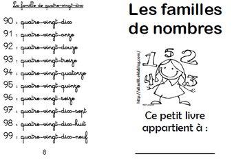 Image de petit livre familles de nombres