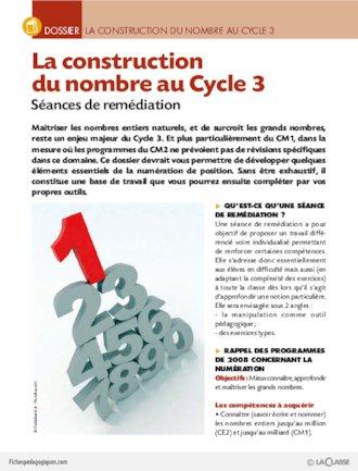 Image de La construction du nombre au Cycle 3 (dossier) sur FichesPédagogiques.com