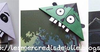 Image de Marque pages  en origami spécial Halloween