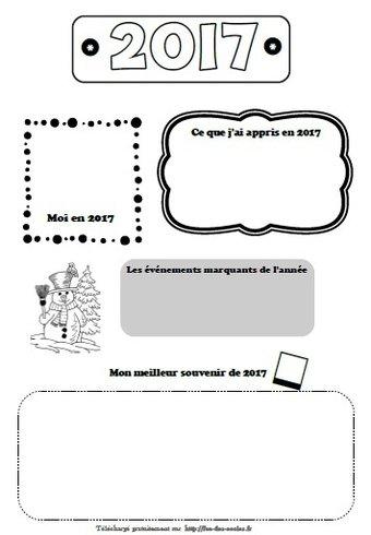 Image de Production d'écrits sur le thème de la nouvelle année, du Jour de l'An -CP-CE1-CE2-CM1-CM2 - Fée des écoles
