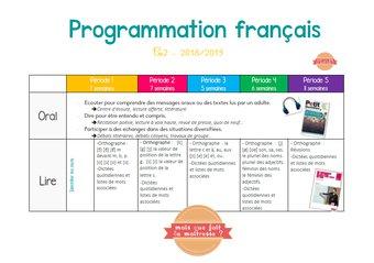 Image de Programmations annuelles et hebdomadaires ce2