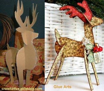 Image de Gabarits rennes de Noël en carton