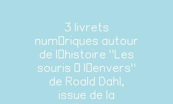 """Image de 3 livrets numériques autour de l'histoire """"Les souris à l'envers"""" de Roald Dahl, issue de la méthode lector/lectrix."""
