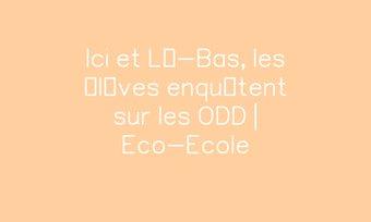 Image de Ici et Là-Bas, les élèves enquêtent sur les ODD | Eco-Ecole