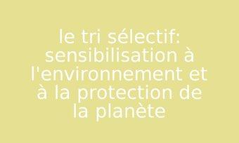 Image de le tri sélectif: sensibilisation à l'environnement et à la protection de la planète