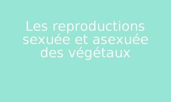 Image de Les reproductions sexuée et asexuée des végétaux