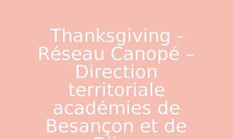 Image de Thanksgiving - Réseau Canopé – Direction territoriale académies de Besançon et de Dijon