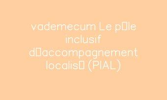 Image de vademecum  Le pôle inclusif d'accompagnement localisé (PIAL)