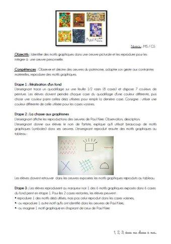 Image de Une chasse aux graphismes avec Paul Klee