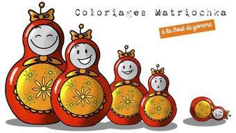 Image de Coloriages : Matriochka -Russie