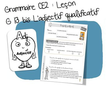Image de G13 bis : l'adjectif qualificatif – CE2