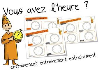 Image de L'heure : Fichier d'entrainement
