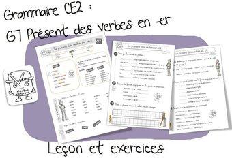Image de G7 : Conjugaison : le présent des verbes en -ER