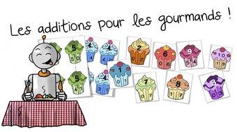 Image de Jeu sur les tables d'addition : les cupcakes