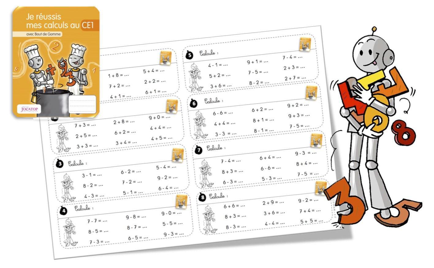 Rituels calcul avec les cahiers de calcul Jocatop CE1 par ...