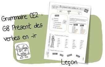 Image de G8 : Conjugaison : le présent des verbes en -IR