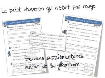 Image de Exercices complémentaires en français autour du petit chaperon qui n'était pas rouge