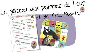 Image de Cuisine :le gâteau aux pommes de Loup et Tatie Rosette