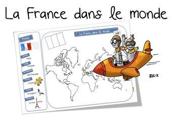 Image de La France dans le monde: carte et récapitulatif CP-CE1