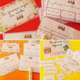 Image de Cartes à Pinces : Grammaire