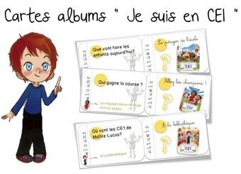 Image de Cartes albums : « Je suis en CE1 »