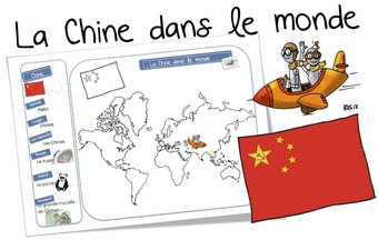 Image de La Chine dans le monde : la carte